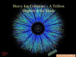 Heavy Ion Collisions – A Trillion Degrees in the Shade