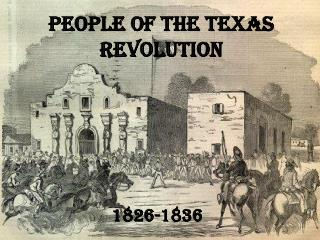 People of the Texas Revolution