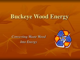 Buckeye Wood Energy