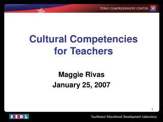 Cultural Competencies for Teachers