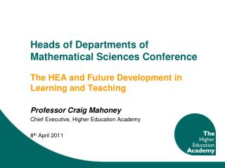 Heads of Departments of Mathematical Sciences Conference