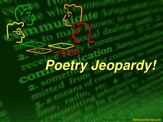 Poetry Jeopardy!