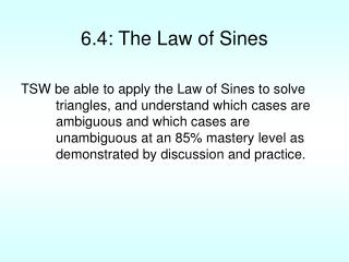 6.4: The Law of Sines