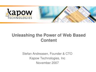 Unleashing the Power of Web Based Content