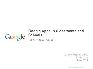Google Apps in Classrooms and Schools