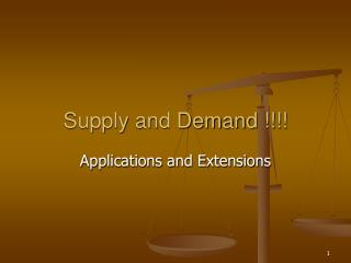 Supply and Demand !!!!