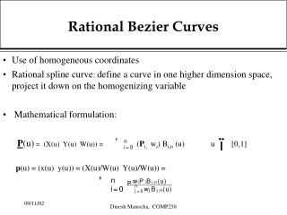 Rational Bezier Curves