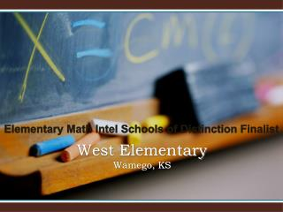 West Elementary Wamego, KS