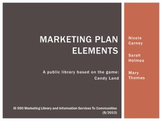 Marketing Plan Elements