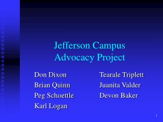 Jefferson Campus Advocacy Project