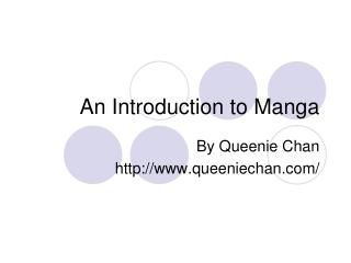 An Introduction to Manga