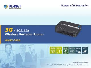 3G  /  802.11n Wireless Portable Router