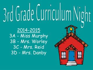 3rd Grade Curriculum Night