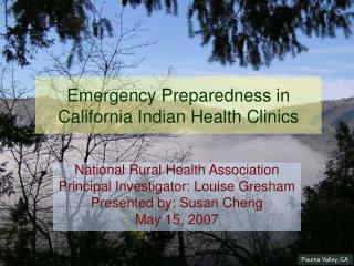 Emergency Preparedness in California Indian Health Clinics