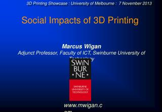 Social Impacts of 3D Printing