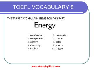 TOEFL VOCABULARY 8