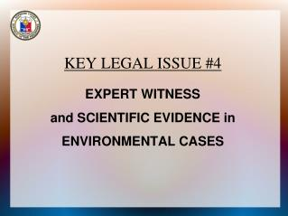 KEY LEGAL ISSUE #4