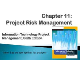 Chapter  11: Project Risk Management