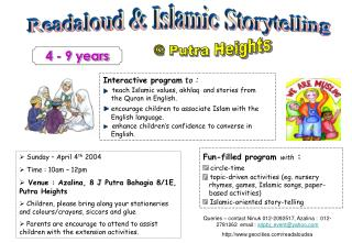 Readaloud & Islamic Storytelling