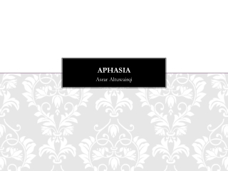 Treatment of Grammatical Deficits in Aphasia:  Language and Brain Recovery