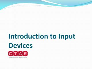 Introduction to Input Devices