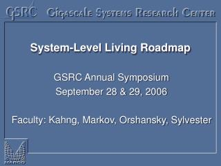 System-Level Living Roadmap