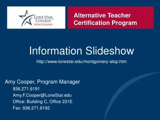 Alternative Teacher Certification Program