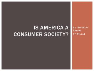 Is America a consumer society?