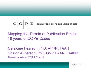 Mapping the Terrain of Publication Ethics: 16 years of COPE Cases
