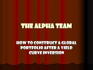 The Alpha Team