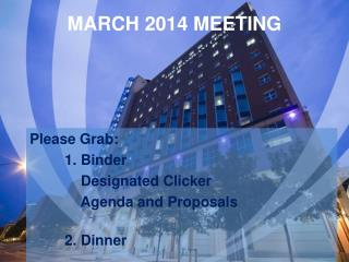 MARCH 2014 MEETING