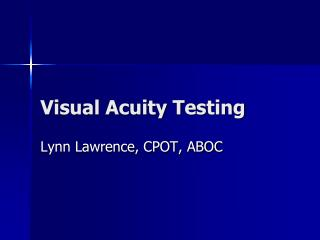 Visual Acuity Testing