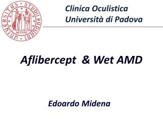 Department of Ophthalmology  University of  Padova