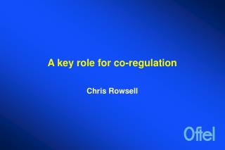 A key role for co-regulation