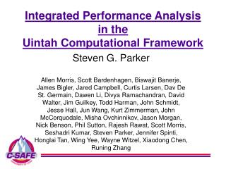 Integrated Performance Analysis in the Uintah Computational Framework