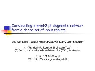 Constructing a level-2 phylogenetic network from a dense set of input triplets
