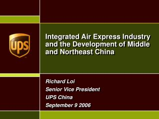 Integrated Air Express Industry and the Development of Middle and Northeast China