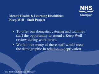 a description of the government running mental health facilities Job description: responsible for emergency and recovery mental health operations to ensure the psychological well-being of students, staff, others on campus, and parents (note: incident commander (principal) may also perform this job.