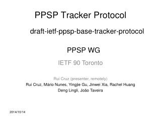 PPSP Tracker Protocol