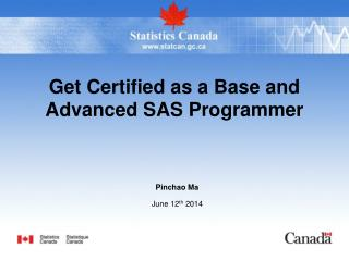 Get Certified as a Base and Advanced SAS Programmer