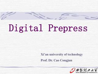 Digital Prepress