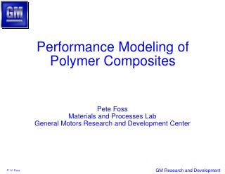 Performance Modeling of Polymer Composites