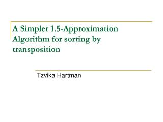 A Simpler 1.5-Approximation Algorithm for sorting by transposition