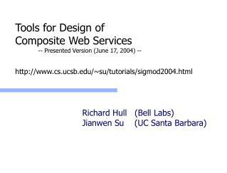 Richard Hull   (Bell Labs) Jianwen Su    (UC Santa Barbara)