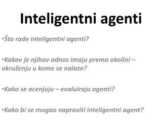 Inteligentni agenti