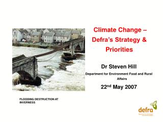 Climate Change – Defra's Strategy & Priorities