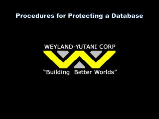 Procedures for Protecting a Database