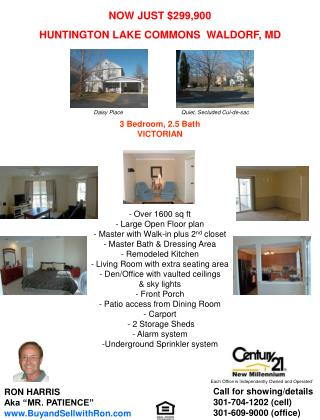 NOW JUST $299,900 HUNTINGTON LAKE COMMONS  WALDORF, MD