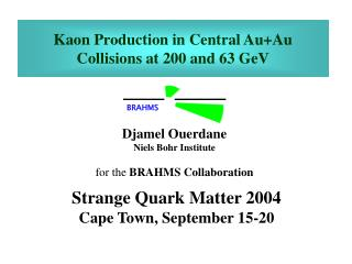 Kaon Production in Central Au+Au Collisions at 200 and 63 GeV