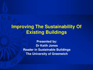 Improving The Sustainability Of Existing Buildings